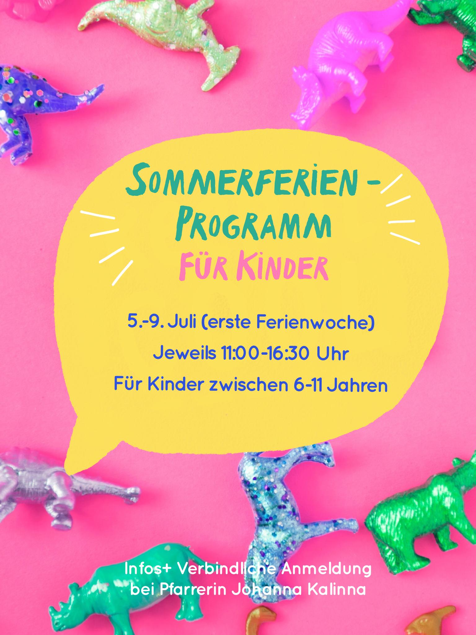 You are currently viewing Sommerferienprogramm für Kinder